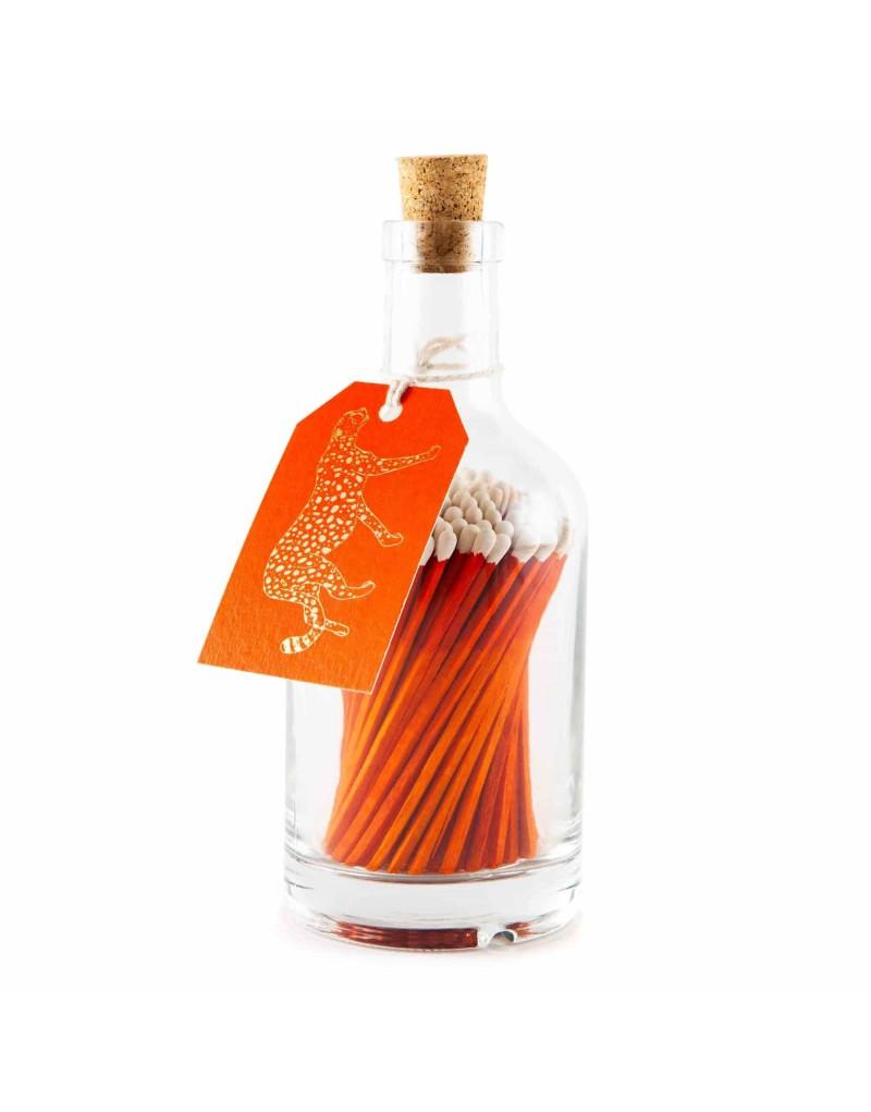 Bottle Matches Orange Leopard Archivist