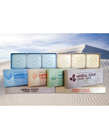 Caja de Jabones · Exfoliante Mineral · Cúrcuma Jabones