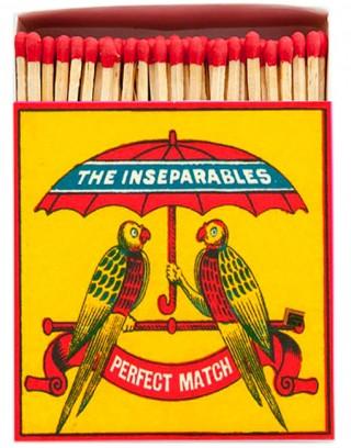 Square Matchbox The Inseparables Archivist | Cerillas