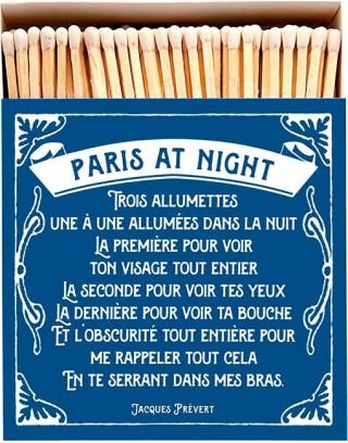Square Matchbox Paris at Night Archivist | Cerillas