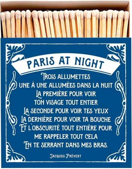 Square Matchbox Paris at Night Archivist   Cerillas