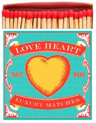 Square Matchbox Love Heart Archivist | Cerillas