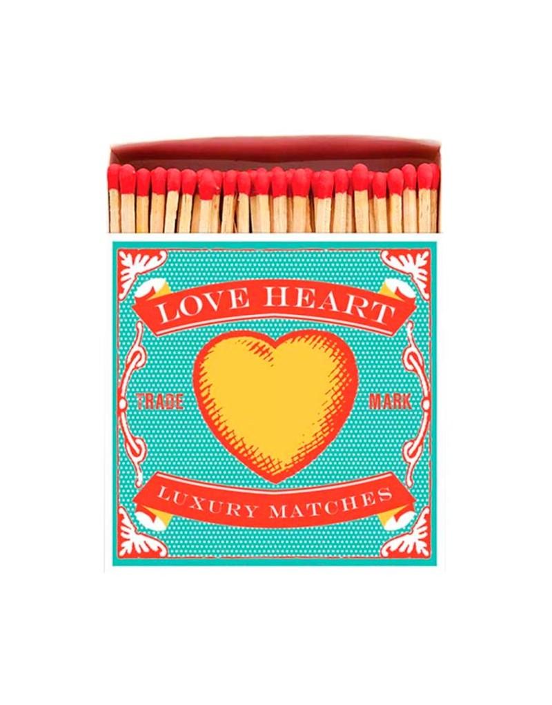 Square Matchbox Love Heart Archivist   Cerillas