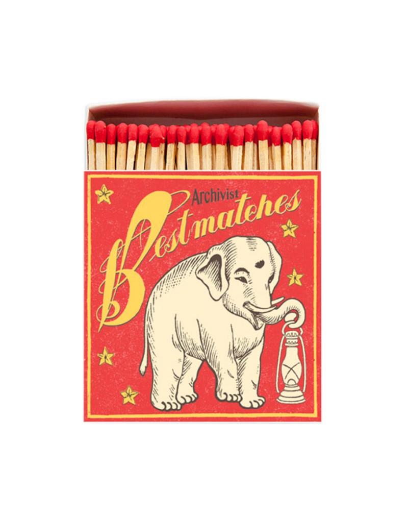 Square Matchbox Bestmatch Elephant Archivist | Cerillas