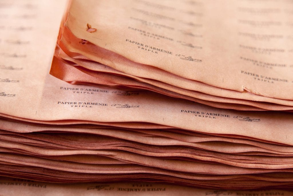 hojas de papel de Arménie