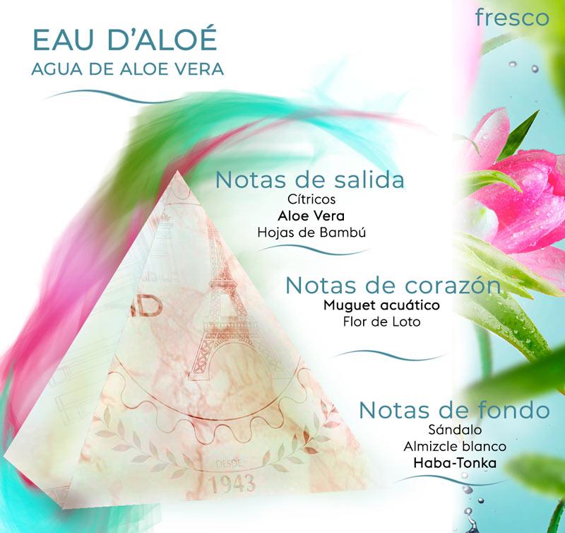 Pirámide olfativa Aloe Vera