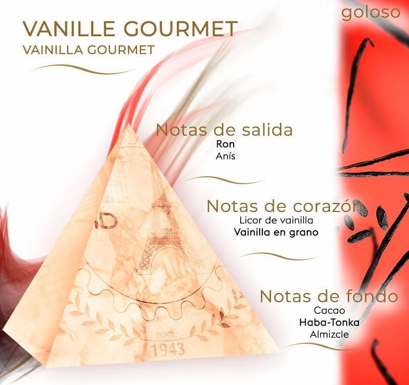 Pirámide olfativa de Vanille Gourmet