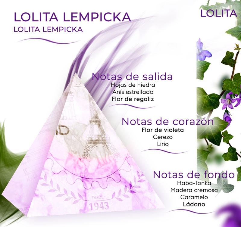 Pirámide olfativa Lolita lempicka