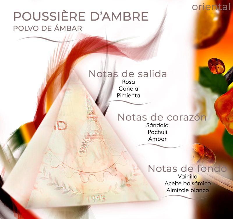 Pirámide olfativa Polvo de Ámbar