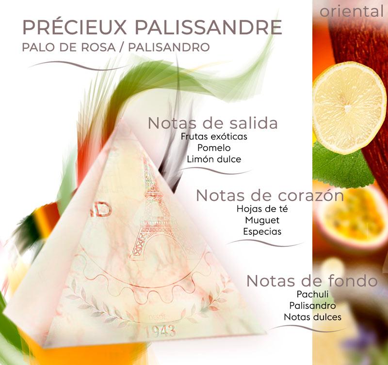 Pirámide olfativa de Précieux Palissandre