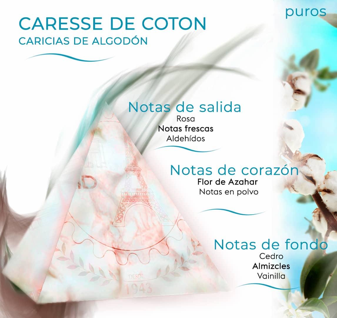 Pirámide olfativa caricias de algodón