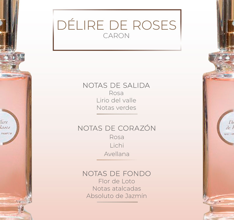 Pirámide olfativa de Délire de Roses